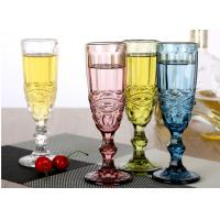 Best Champagne Wine Solid Glass Products Wedding Party Yellow Blue Capacity 150ml wholesale