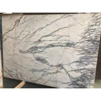 Best Disorderly Lines Hoar Stone Slab Tiles Wall Floor White Marble With Gray Vein wholesale