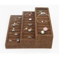 Cheap Wedding Ring Jewelry Storage Trays Tarnish Free Materials Showcase Ice Velvet Tray for sale