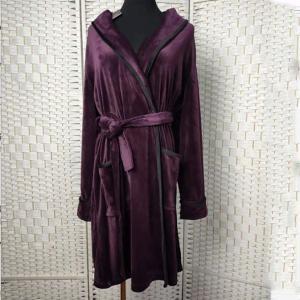 Best Deep Purple Women Pyjama Set / Sleeping Gown / Bathrobes For Winter wholesale