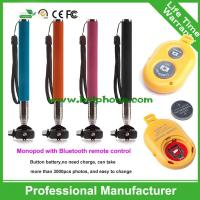 Selfie stick wireless bluetooth with remote controll made in china for mobile accessory