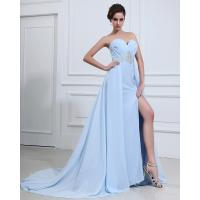 Best Light Blue Sexy summer long Party Dresses for Women , aline prom dresses wholesale