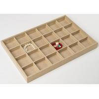 China 24 Grids Jewelry Tray Display  Made In Linen For Bracelet and Necklace Display on sale