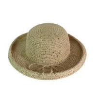 China Natural Paper String Crochet Hat on sale
