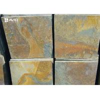 Best Rusty Yellow Natural Slate Floor Tiles Non Slip Wear Resistant OEM / ODM Service wholesale