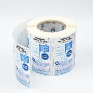 Custom Made Waterproof Self Adhesive Vinyl Printed Labels for Home Appliance