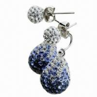Best Crystal Drop Earring, Available in Various Colors and Sizes wholesale