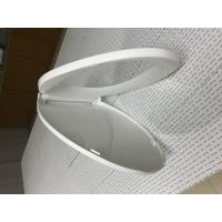 China PP Pure Color Toilet Bowl Seat Cover With Stainless Steel Hinge Material on sale