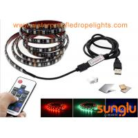 Best USB Powered 5V RGB Black Flexible LED Strip Lights for TV Back Lighting , Desk , Trucks wholesale