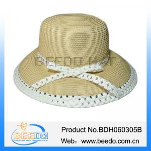 Best Fashion women wide brim summer beach sun straw hat wholesale