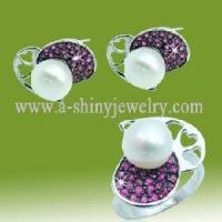 Best 925 Sterling Silver Pearl Ring/Jewelry Set (RSI5340) wholesale