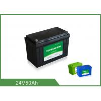 Best CE Certificated Lithium Iron Phosphate Battery 24V 50AH Long Lifespan wholesale