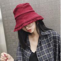 China Knitting pot hat tide men and women autumn and winter solid color warm casual wild Bucket Hat on sale