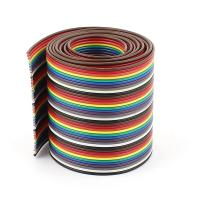 China 1m 3.3ft 40 Way Rainbow IDC Wire , Flat Ribbon Cable Customized Length on sale