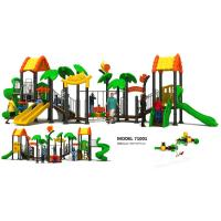 China Classic Outdoor Custom Playground Equipment , Climbing Frame With Slide EN1176 Certified on sale