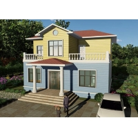China Classic Light Gauge Steel Truss Ultra Modern Prefab Homes Duplex Villa on sale
