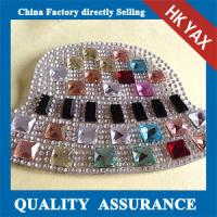 China rhinestone patch round and square rhinestones made in china,rhinestone patch for hats jx0819 on sale