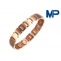 Buy cheap Promotional colorful plating metal bracelet black 210*12*3.2mm from wholesalers