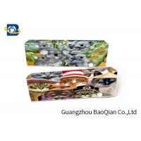 China Cartoon Animal 3D Stationery Flip Effect For School , 3D Pencil Case on sale