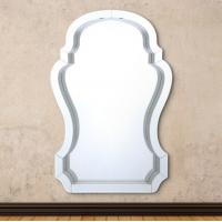 China Compact Beveled Glass Framed Mirrors / Decorative Mirror Glass High Hardness on sale