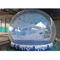 Cheap Giant Inflatable Snow Globe Logo Printing Eco Friendly With Colorful Base for sale