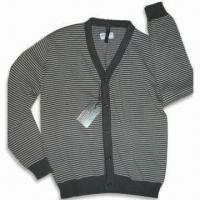 Best Knitted Cardigan, Made of 100% Cotton, Available in Black and White, Suitable for Men wholesale