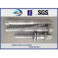 Best M24 X 214mm Railway Sleeper track spikes or screw spikes With HDG coatings wholesale