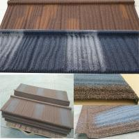 Best Long Lifespan Stone Coated Steel Roofing Tile Excellent Fire Resistance wholesale
