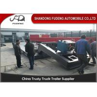 China Hydraulic Gooseneck lowboy Trailer ,  80 Tons Detachable front loading Low Loader Trailer on sale