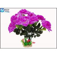 Best OEM Beautiful Cheered Rose Plastic Artificial Plants Fish Tank Landscaping Decoration Acessories wholesale