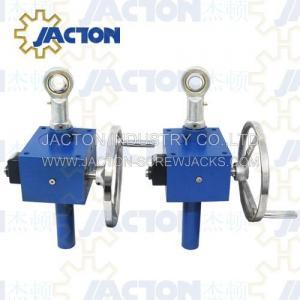 China hand crank jack, screw jack crank light duty, manual gear wheel screw jack on sale