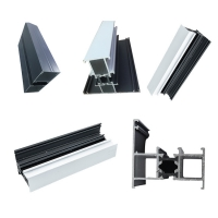 Best Factory Made Aluminium Extrusion Almunium Profile For Doors And Window with Mill finish,powder coating and anodizing wholesale