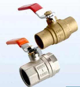 China 1/2 - 2 Inch Female Brass Ball Valve Iron Handle Sanitary Ball Valve on sale