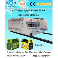 China Automated Carton Box Printing Slotting Die Cutting Machine , Lead Edge Feeding on sale