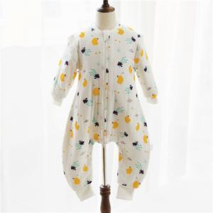 Best Unisex Muslin Baby Pajamas Cotton Fabric Plain Dyed Newborn Baby Outfits ODM / OEM wholesale