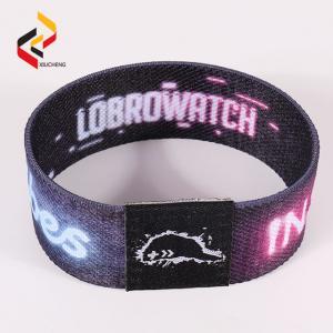 Best RFID Smart Elastic Wristband Custom Logo Events Stretch Bracelet wholesale