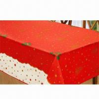 Best Home Textile Christmas Table Cloth, Made of 100% Polyester wholesale