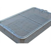 Best 304 Stainless Steel Wire Mesh Medical Disinfection Basket 40cm x 25cm x 7cm Size wholesale