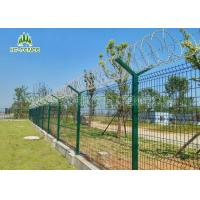 Best Pre Galvanized Welded Wire Fence Weather Proof For Shipping Port Security wholesale