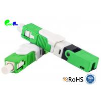 Best Optical Fiber Connector SC APC SX 9 / 125μm With Green Field Assembly 0.3dB Insertion Loss wholesale