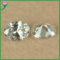 Best Wholesale 6*8mm synthetic white oval cut loose zircon stones price wholesale
