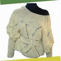Women's Crochet Sweater, Made of 100%Cotton
