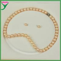Best Hot Sale indian bridal pink fashion luxury design natural pearl jewelry sets wholesale
