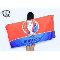 China Microfiber Size 30'' x 60'' Europe Cup Logo Beach Towel , Fast Drying Super Absorbent Gym Towel on sale