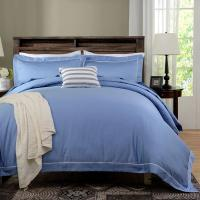 Best Blue Dyed Solid Bedding Sets For Hotel And Beauty Salon Hypoallergenic wholesale