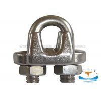 Best 1/8 In Steel Cable Clips , Metal Rope Clamp Cast Iron Technology For Marine wholesale