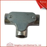 China 20mm Inspection Tee electrical Conduit Junction Box Without Cover , White Color on sale