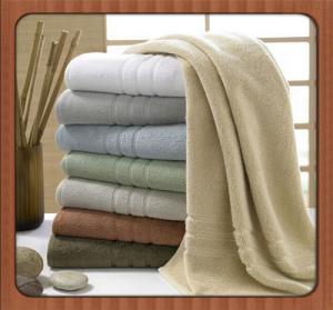 Best Wholesale custom beach towel 70% bamboo fiber 30% cotton hotel bath towel fabric wholesale