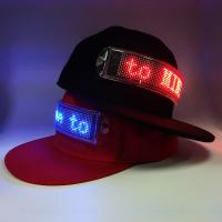 Best Flashing scrolling message LED cap which canbe changed the message by client's phone wholesale