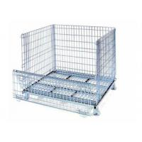 China Wire Mesh Storage Bins/Rolling Metal Containers on sale